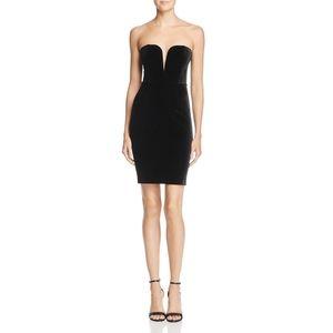 Bardot Velvet Bustier Mini Dress Black sz 4
